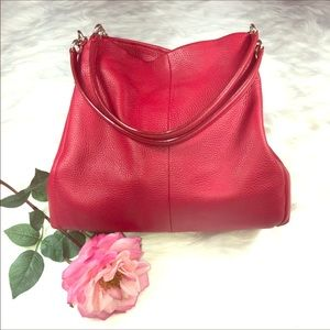 Coach Madison Phoebe Red Leather Bag